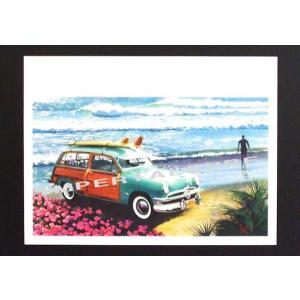 人気のハワイアンポスターウッディーワゴンがオールドアメリカンな雰囲気がいい感じ!! hawaiianposter サーフィン&車 imperialsurf