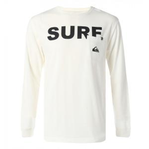 QUIKSILVER クイックシルバーポケット付長袖Tシャツ QLT184046 WHT/L メンズ人気ブランド|imperialsurf