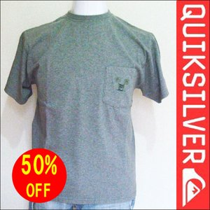QUIKSILVER クイックシルバー 半袖Tシャツ GRY M 人気ブランドサーフィン|imperialsurf