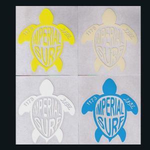 サーフィン人気ステッカーいい波1173 ホヌ亀  シール カッティングシート flar01|imperialsurf