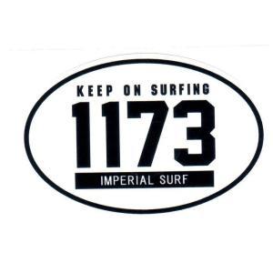 サーフィン人気ステッカーいい波1173 オーバル シール flar04|imperialsurf