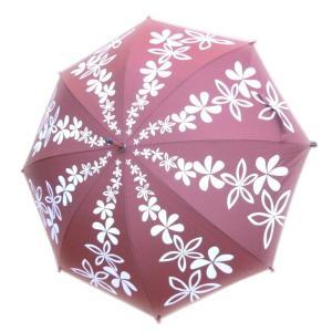 傘 かさ カサフラハワイ HulaHawaii フラレフア ハワイアンアンブレラ アロハ柄 人気ブランド  プルメリア|imperialsurf