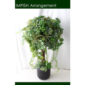 フェイクグリーン 造花 インテリア トピアリー アレンジメント B-320|impish