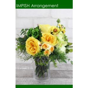 造花 インテリア アーティフィシャルフラワー アレンジメント M-274|impish