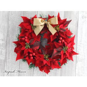 クリスマスリース 造花 クリスマス リース  壁掛け W-286|impish