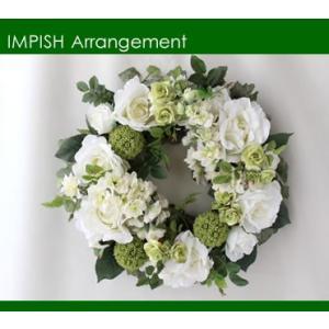 造花 リース アートフラワー  壁掛け シルクフラワー アレンジメント  W-296|impish