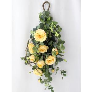 造花 リース アートフラワー  壁掛け シルクフラワー アレンジメント  W-365|impish