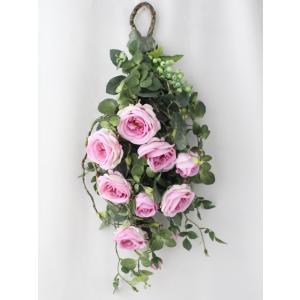 造花 リース アートフラワー  壁掛け シルクフラワー アレンジメント  W-366|impish