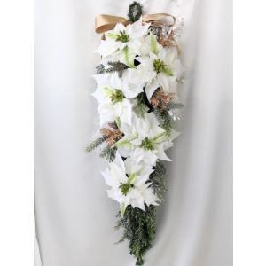 クリスマスリース 造花 クリスマス リース  壁掛け スワッグ   W-373|impish