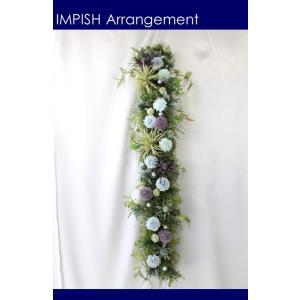 造花 リース 壁掛け アーティフィシャルフラワー インテリア  W-516|impish