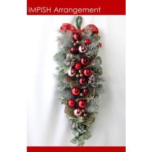 クリスマスリース 造花 クリスマス リース  壁掛け スワッグ   W-524|impish