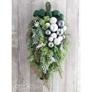 クリスマスリース 玄関 造花 豪華 壁掛け スワッグ   W-575|impish