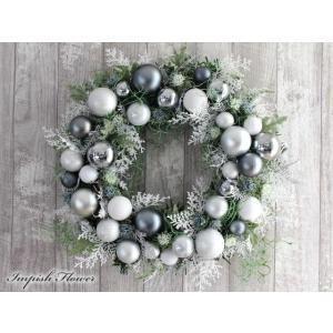 クリスマスリース 玄関 造花 クリスマス リース  W-622|impish