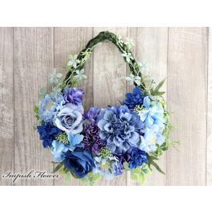 リース 花 玄関 インテリア  壁掛け 造花  W-632 かわいい|impish