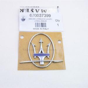 Genuine Maserati GranTurismo Sport Dashoard Passenger Side badge emblem 84725000