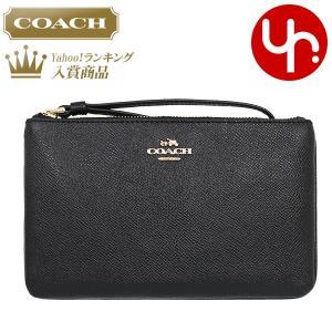コーチ COACH 小物 ポーチ F57465 ブラック ラグジュアリー クロスグレーン レザー ラージ リストレット アウトレット レディース|import-collection-yr