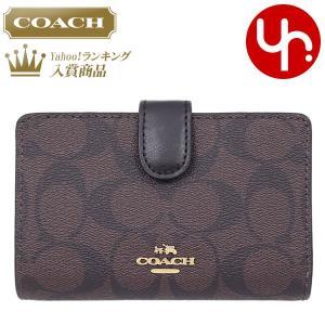 コーチ COACH 財布 二つ折り財布 F23553 ブラウン×ブラック シグネチャー PVC レザー ミディアム コーナー ジップ ウォレット レディース|import-collection-yr