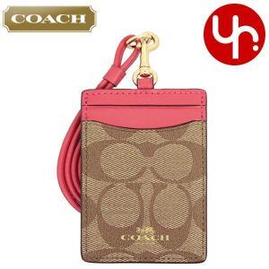コーチ COACH 小物 カードケース F63274 カーキ×ポピー ラグジュアリー シグネチャー PVC ランヤード ID ケース アウトレット レディース|import-collection-yr