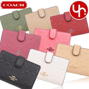 コーチ COACH 財布 二つ折り財布 F67565 ラグジュアリー デボスド シグネチャー レザー ミディアム コーナー ジップ ウォレット アウトレット レディース|import-collection-yr