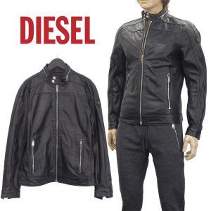 ディーゼル DIESEL レザージャケット ライダースジャケット SVTT-0DAOI L-FERGUSON-900 ブラック|importbrand-jp