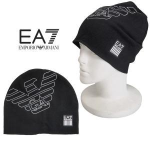 エンポリオ アルマーニ EMPORIO ARMANI メンズ ニット帽 EA7 ロゴ 275560-7A393-00020 BLACK|importbrand-jp