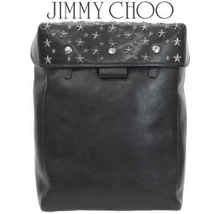 ジミーチュウ JIMMY CHOO バックパック スタースタッズ付き Black レザー FLOYD-CST-BLACK/GUNMETAL|importbrand-jp