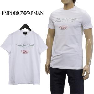 エンポリオ アルマーニ Tシャツ トリコロールロゴ 3Z1T...