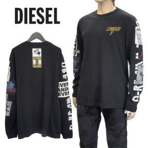 ディーゼル DIESEL Tシャツ ロゴプリント バックプリ...