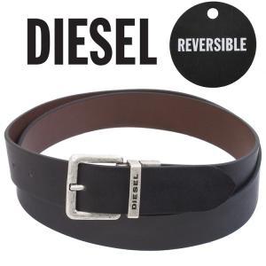 ディーゼル DIESEL ベルト リバーシブル サイズ調整可能 X03968-PR623 B-TWIN-H6045 Black-brown|importbrand-jp