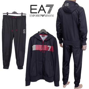 エンポリオアルマーニ EMPORIO ARMANI EA7 ジャージ パーカー セットアップ 6YPV71-PJ08Z-1200 ブラック|importbrand-jp