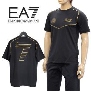 エンポリオアルマーニ EMPORIO ARMANI EA7 Tシャツ 長袖 ロンT クルーネック 3YPTE1-PJ30Z-1200 ブラック|importbrand-jp