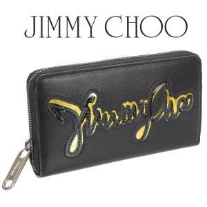 ジミーチュウ JIMMY CHOO レディース ラウンドファスナー長財布 MILLY-JCG-BLACK×ACID YELLOW|importbrand-jp
