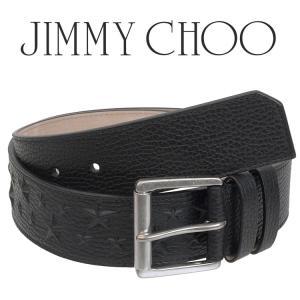 ジミーチュウ JIMMY CHOO メンズ ベルト エンボスレザー/スター型押し ARCHER-EMG-BLACK|importbrand-jp
