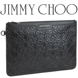 ジミーチュウ JIMMY CHOO クラッチバッグ エンボスレザー DEREK-GIQ-BLACK|importbrand-jp