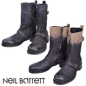 訳あり ジップ不良 NEIL BRRETT ニールバレット サイドジップ ブーツ 全2色 BSH164-9302 新品 未使用