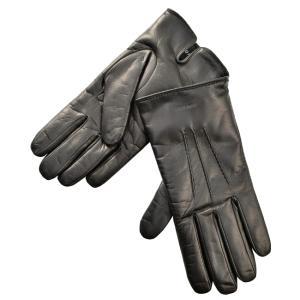 【17年秋冬セール】ジョルジオアルマーニ/GIORGIO ARMANI 手袋 メンズ シープスキン グローブ ブラック 2017年秋冬新作 744133-7A203-00020|importbrandgrace