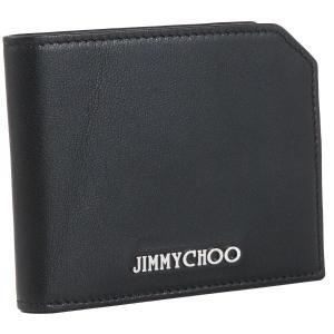 ジミーチュウ/JIMMY CHOO 財布 メンズ バイカ―レザー 2つ折り財布 ブラック ALBANY-BKL-0001|importbrandgrace