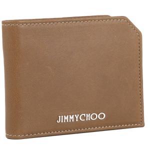 ジミーチュウ/JIMMY CHOO 財布 メンズ バイカ―レザー 2つ折り財布 ブラウン ALBANY-BKL-0039|importbrandgrace