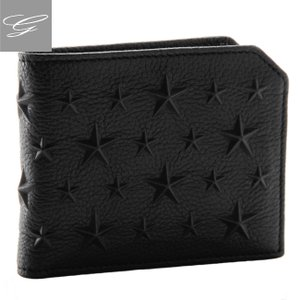 ジミーチュウ/JIMMY CHOO 財布 メンズ カーフスキン 2つ折り財布 ブラック  ALBANY-EMG-0001|importbrandgrace