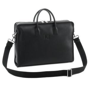 ロエベ/LOEWE バッグ メンズ アマソナ ブリーフケース スムースカーフ ビジネスバッグ ブラック 35273E53-0008-1100|importbrandgrace