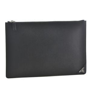 プラダ/PRADA バッグ メンズ サフィアーノ メタル クラッチバッグ ブラック  2NG001-QME-002|importbrandgrace