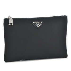 プラダ/PRADA バッグ メンズ テスートサフィアーノ ポーチ ブラック  2NG004-064-002|importbrandgrace