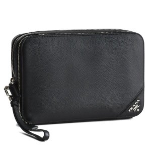プラダ/PRADA バッグ メンズ サフィアーノトラベル セカンドバッグ ブラック 2VF052-9Z2-002|importbrandgrace