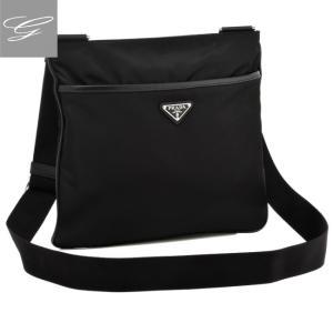 プラダ/PRADA バッグ メンズ テスートサフィアーノ ショルダーバッグ ブラック  2VH053OOO-064-002|importbrandgrace