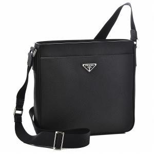 プラダ/PRADA バッグ メンズ サフィアーノクイール ショルダーバッグ ブラック 2VH086-2FAD-002|importbrandgrace