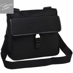 プラダ/PRADA バッグ メンズ テスートサフィアーノ ショルダーバッグ ブラック  2VH269OOO-064-002|importbrandgrace