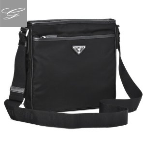 プラダ/PRADA バッグ メンズ テスートサフィアーノ ショルダーバッグ ブラック  2VH797OOO-064-002|importbrandgrace