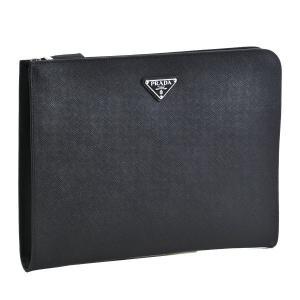 プラダ/PRADA バッグ メンズ サフィアーノ トラベル クラッチバッグ ブラック  2VN003-9Z2-002|importbrandgrace