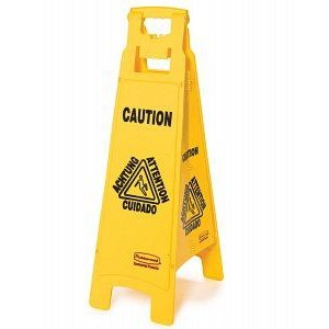 4-Sided Wet Floor Signs Caution By Rubbermaid|importdiy