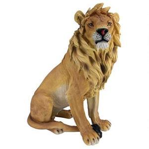 Design Toscano JE43201 King of Beasts Lion Outdoor Garden Statue, 27 Inch, full color【並行輸入品】|importdvd-com